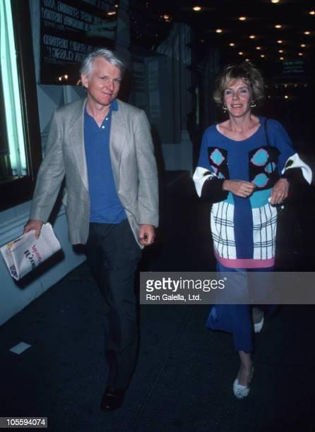 David Rabe and Jill Clayburgh during Jill Clayburgh Sighting at the 46th Street Theater June 26 1986 at 46th Street Theater in New York City New York...