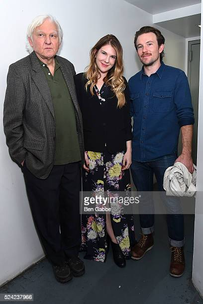 David Rabe Lily Rabe and Michael Rabe attend the Revival Screening of Bernardo Bertolucci's LA LUNA at Anthology Film Archives on April 25 2016 in...