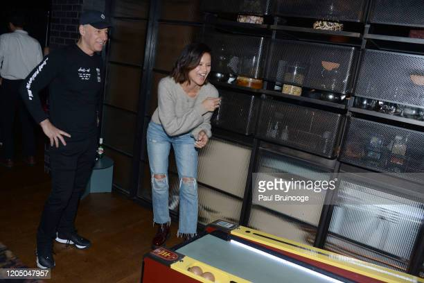 David Rabin and Tarale Wulff attend New York Premiere Of The Social Ones After Party at Alphabet Bar at Moxy East Village on March 3 2020 in New York...