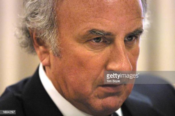 David Radler president and chief operating officer of Hollinger International Inc which publishes the Chicago SunTimes newspaper is seen at a press...