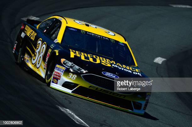 David Ragan driver of the Performance Plus Ford practices for the Monster Energy NASCAR Cup Series Foxwoods Resort Casino 301 at New Hampshire Motor...