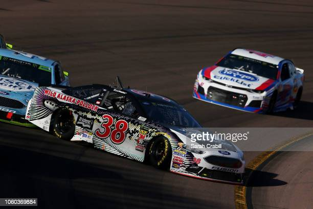 David Ragan driver of the Trident Seafoods Wild Alaska Pollock Ford ins involved in an on track incident during the Monster Energy NASCAR Cup Series...