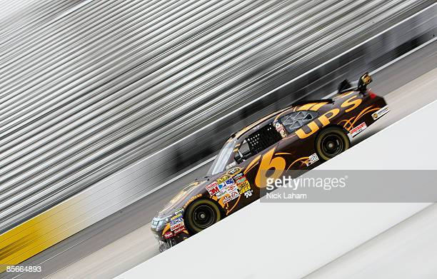 David Ragan driver of the UPS Ford drives during practice for the NASCAR Sprint Cup Series Goody�s Fast Pain Relief 500 at the Martinsville Speedway...