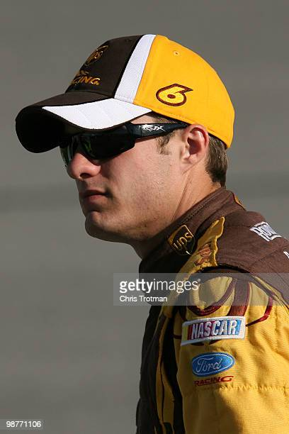David Ragan driver of the UPS Ford looks on during qualifying for the NASCAR Sprint Cup Series Crown Royal Presents The Heath Calhoun 400 at Richmond...