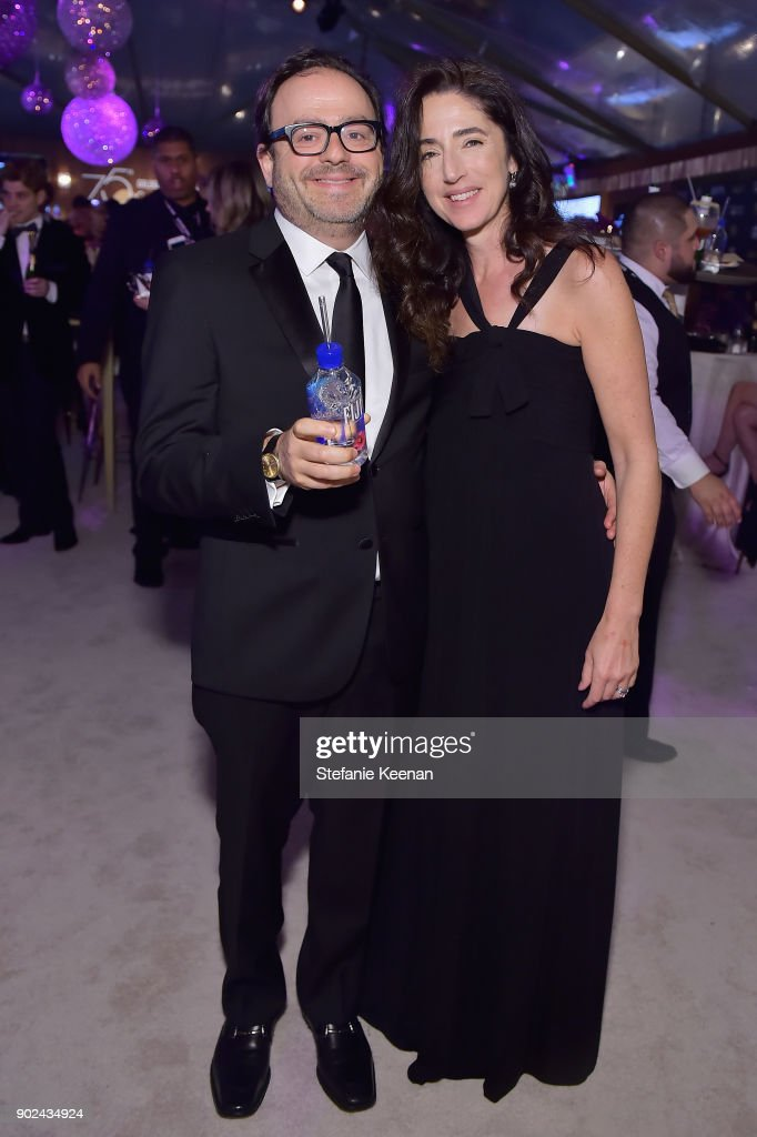 David Ragonetti (L) and Beth Ragonetti attend FIJI Water at HFPA's Official Viewing and After-Party at the Wilshire Garden inside The Beverly Hilton on January 7, 2018 in Beverly Hills, California.