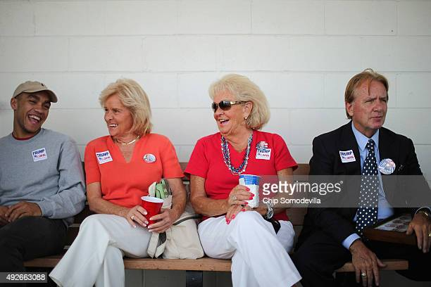 David Ramirez of Richmond Nell Walker and Jeannie Stagg of Virginia Beach VA and Richard Snowden of Nashville TN wait at the head of the line of...