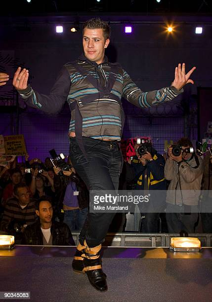 David Ramsden is evicted in third place at this year's Big Brother 10 Final at Elstree Studios on September 4 2009 in Borehamwood England