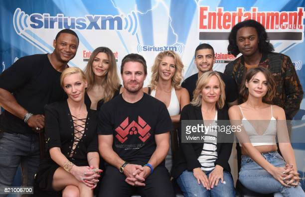 David Ramsey Katie Cassidy Juliana Harkavy Stephen Amell Emily Bett Rickards Rick Gonzalez Wendy Mericle Echo Kellum and Willa Holland attend...