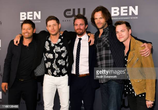 David Ramsey Misha Collins Jensen Ackles Jared Padalecki and Alexander Calvert attend The CW's Summer 2019 TCA Party sponsored by Branded...