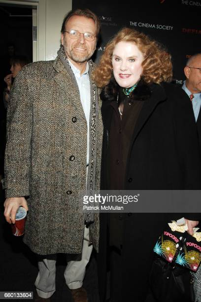 David Rasche and Celia Weston attend THE CINEMA SOCIETY NEXTBOOK GREY GOOSE host a screening of 'DEFIANCE' at Landmark Sunshine Theater on January 12...