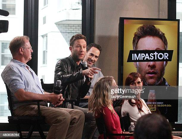 David Rasche Michael Rosenbaum Mike Kosinski Mircea Monroe and Sarah Rue attend AOL BUILD Speaker Series 'Impastor' at AOL Studios In New York on...