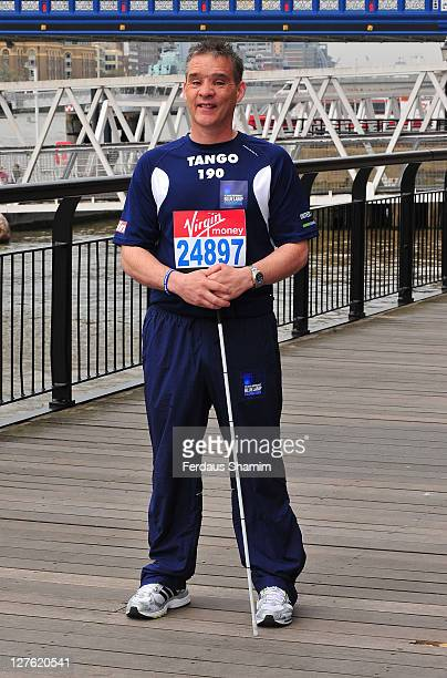 David Rathband attends a photocall ahead of the Virgin London Marathon at The Tower Hotel on April 15 2011 in London England