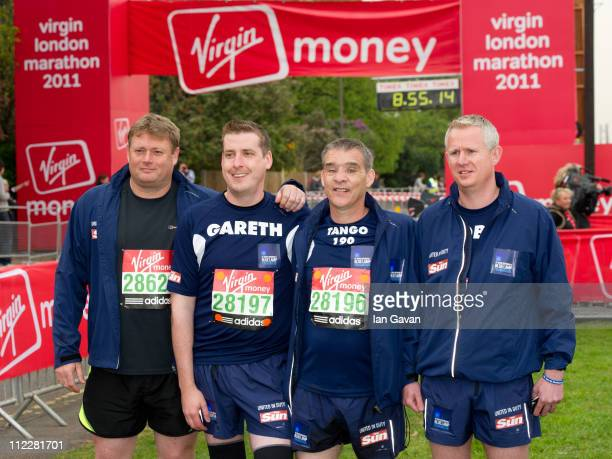 David Rathband attends the celebrity start of the 2011 Virgin London Marathon at Blackheath on April 17 2011 in London England