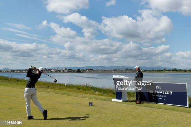 David Ravetto of France in action during Day Two of the RA Amateur Championship at Portmarnock Golf Club on June 18 2019 in Portmarnock Ireland