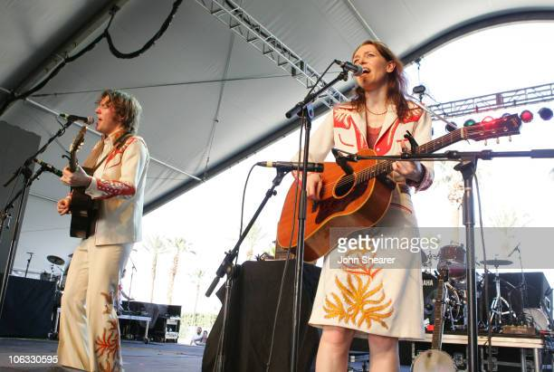 David Rawlings and Gillian Welch during 2007 Coachella Valley Music and Arts Festival Day 1 at Empire Polo Field in Indio California United States