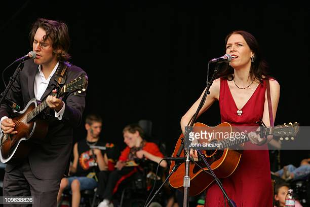 David Rawlings and Gillian Welch during 20th Annual Bridge School Benefit Concert Day Two at Shoreline Amphitheatre in Mountain View California...