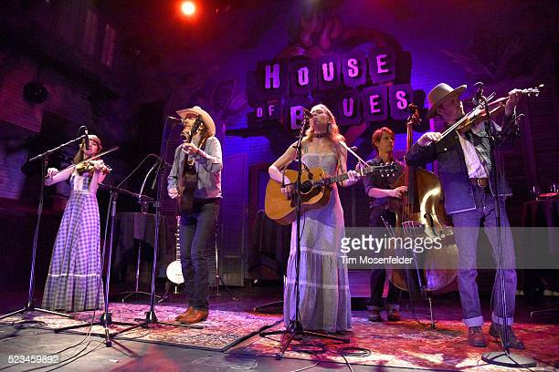 David Rawlings and Gillian Welch of Dave Rawlings Machine perform in support of the band's Nashville Obsolete release at House of Blues on April 22...