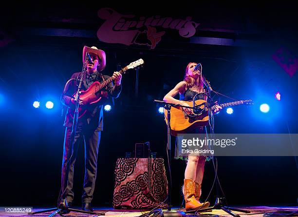 David Rawlings and Gillian Welch perform at Tipitina's on August 11 2011 in New Orleans Louisiana