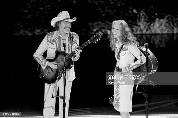 David Rawlings and Gillian Welch perform onstage during the 91st Annual Academy Awards at Dolby Theatre on February 24 2019 in Hollywood California