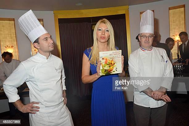 David Real from the Fouquets Nadine Rodd and Fouquet's Chef Jean Yves Laurenguer attend 'La Route Des Saveurs Les Secrets Des Grands Chefs Etoiles'...