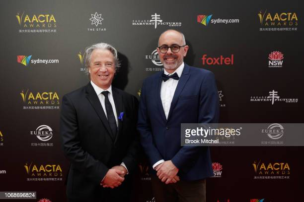 David Redmann and Tony Coombes attend the 2018 AACTA Awards Presented by Foxtel at The Star on December 5 2018 in Sydney Australia