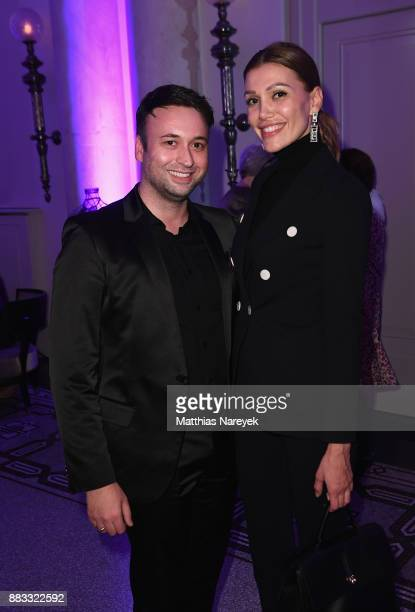 David Reichert and Jackie Hide attend the opening of the 'Sound of Passion' exhibition for dessous brand LASCANA at Hotel de Rome on November 30 2017...