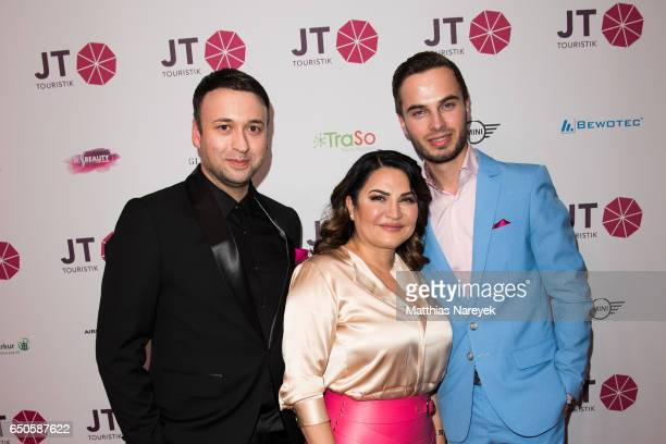 David Reichert Jasmin Taylor and Henri Reichert attend the JT Touristik party at Hotel De Rome on March 9 2017 in Berlin Germany