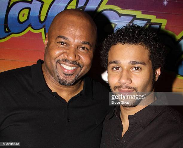 David Reivers and son Corbin Bleu pose as Bleu joins the cast of Broadway's In The Heights at Richard Rodgers Theatre on January 25 2010 in New York...