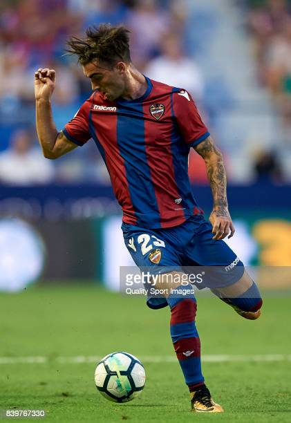 David Remeseiro Jason of Levante in action during the La Liga match between Levante and Deportivo La Coruna at Ciutat de Valencia on August 26 2017...