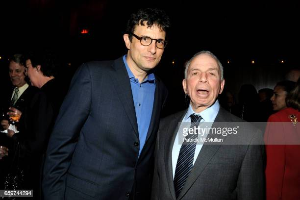 David Remnick and SI Newhouse attend PARADE MAGAZINE and SI Newhouse Jr honor Walter Anderson at The 4 Seasons Grill Room on March 31 2009 in New...