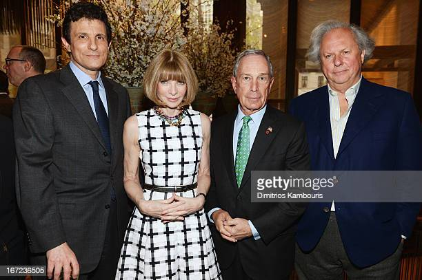 David Remnick Anna Wintour Michael Bloomberg and Graydon Carter attend the Conde Nast Celebrates Editorial Excellence Toast To Editors Writers And...