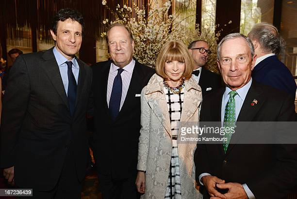David Remnick Chuck Townsend Anna Wintour and Michael Bloomberg attend the Conde Nast Celebrates Editorial Excellence Toast To Editors Writers And...