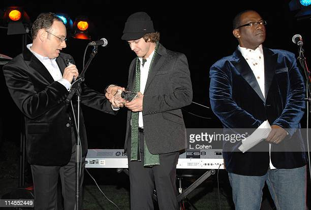 David Renzer Gavin DeGraw and Randy Jackson during Songs of Hope IV at Esquire House 360° Inside at Esquire House 360° in Beverly Hills California...