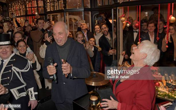 David Reuben and Dame Judi Dench attend the launch of the 200th Burlington Christmas at Burlington Arcade on November 12 2019 in London England