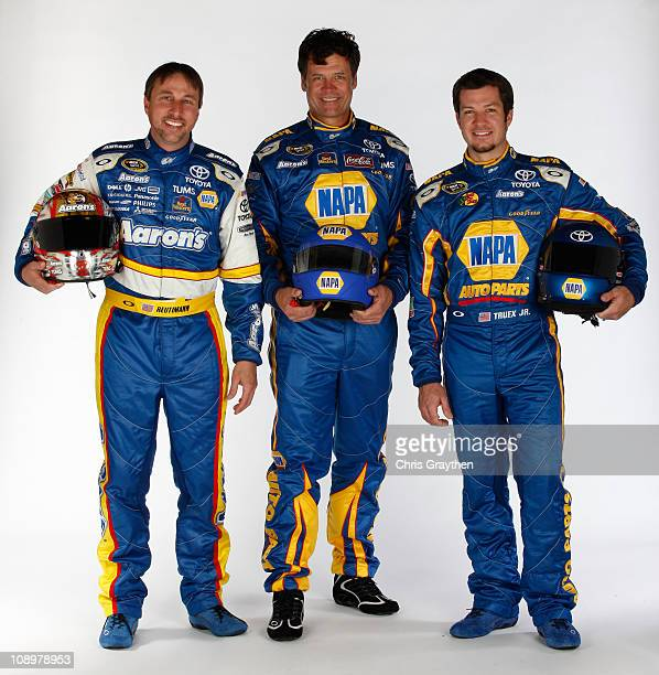 David Reutimann driver of the Aaron's Dream Machine Toyota Michael Waltrip driver of the NAPA Toyota and Martin Truex Jr driver of the NAPA Toyota...