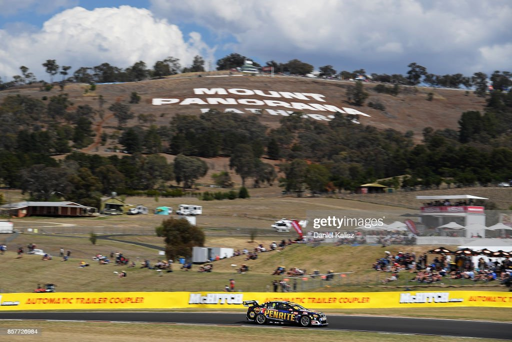 David Reynolds drives the #9 Erebus Motorsport Penrith Racing Holden Commodore VF during practice ahead of this weekend's Bathurst 1000, which is part of the Supercars Championship at Mount Panorama on October 5, 2017 in Bathurst, Australia.