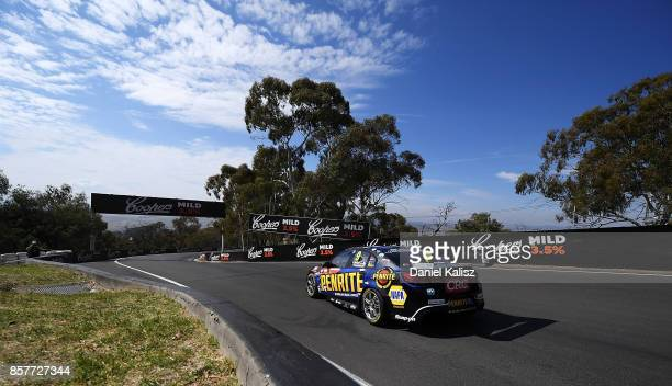 David Reynolds drives the Erebus Motorsport Penrith Racing Holden Commodore VF during practice ahead of this weekend's Bathurst 1000 which is part of...