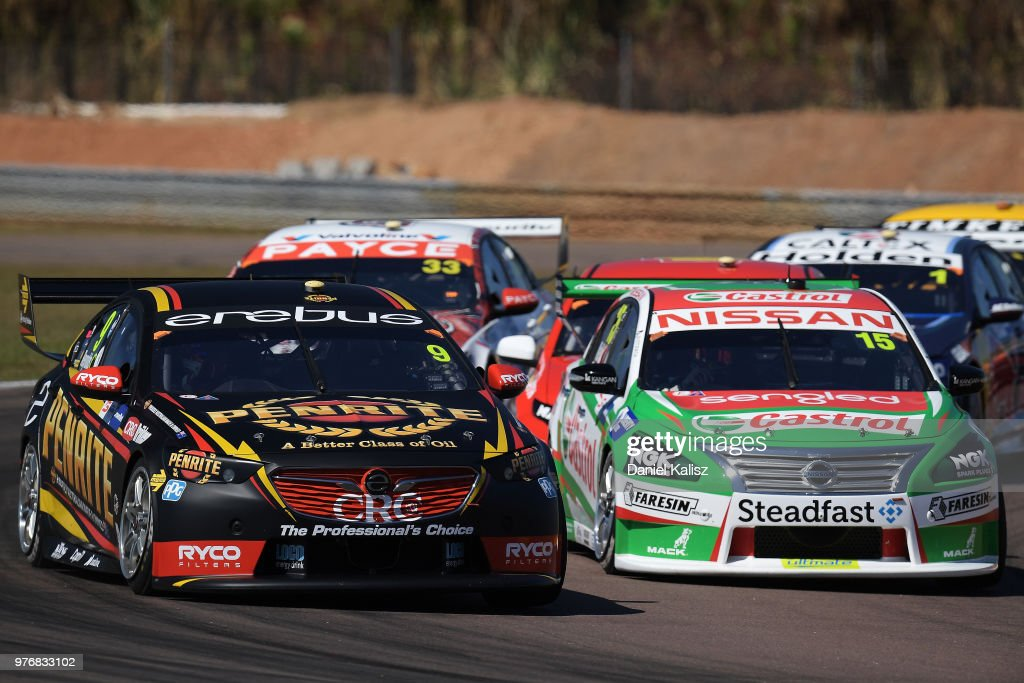 David Reynolds drives the #9 Erebus Penrite Racing Holden Commodore ZB during race 16 for the Supercars Darwin Triple Crown at Hidden Valley Raceway on June 17, 2018 in Darwin, Australia.