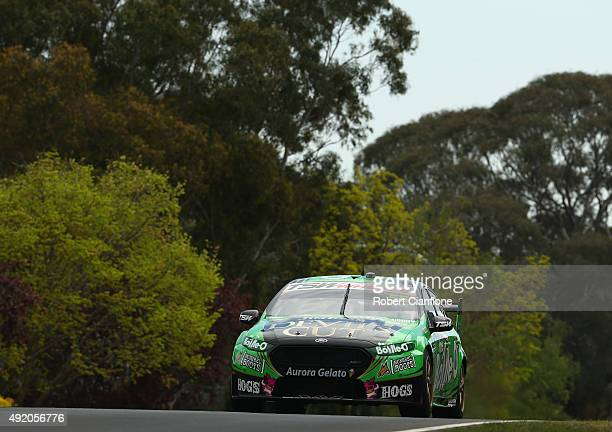 David Reynolds drives the The BottleO Racing Ford during practice for the Bathurst 1000 which is race 25 of the V8 Supercars Championship at Mount...