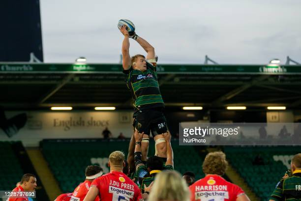 David Ribbans of Northampton Saints during the Gallagher Premiership match between Northampton Saints and Sale Sharks at Franklin's Gardens...