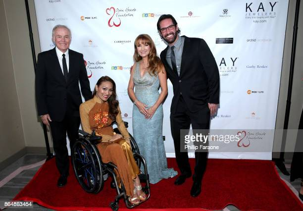 David Richard Angela Rockwood Jane Seymour and Andrew Plotkin at Jane Seymour And The 2017 Open Hearts Gala at SLS Hotel on October 21 2017 in...