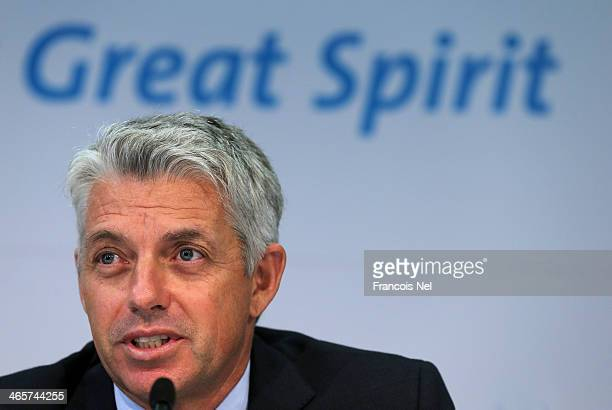 David Richardson Chief Executive of the ICC speaks to the media during the ICC press conference after a two day board meeting at the ICC Headquarters...