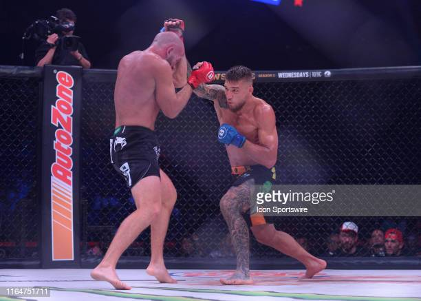 David Rickels takes on Yaroslav Amosov in a 175pound catchweight bout on August 24 2019 at the Webster Bank Arena in Bridgeport Connecticut Yaroslav...
