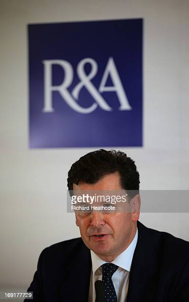 David Rickman Executive Director of Rules and Equipment Standards at The RA speaks to the media during a RA Press Conference to explain the banning...