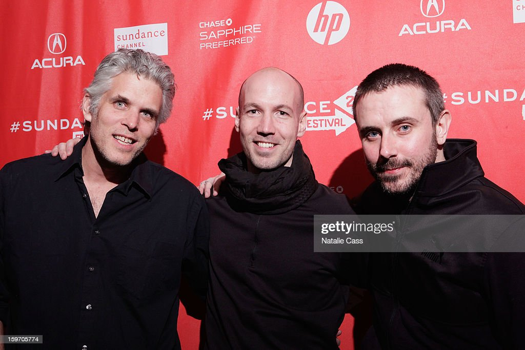 David Riker, Rick Rowley and Jeremy Scahill attend the 'Dirty Wars' Premiere during the 2013 Sundance Film Festival at Eccles Center Theatre on January 18, 2013 in Park City, Utah.