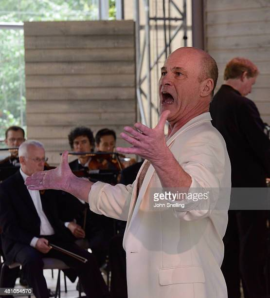 David Rintoul as Oberon performs on stage during a performance of A Midsummer Night's Dream by the Royal Shakespeare Company In collaboration with...