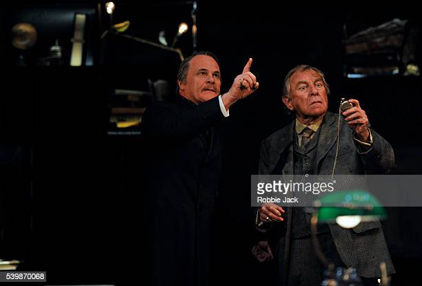 David Rintoul as Sir Alexander Wengrave and Geoffrey Freshwater as Ralph Trapdoor in the Royal Shakespeare Company's production of Thomas Dekker and...