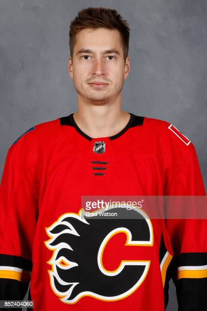David Rittich of the Calgary Flames poses for his official headshot for the 20172018 season on September 14 2017 at the WinSport Winter Sport...