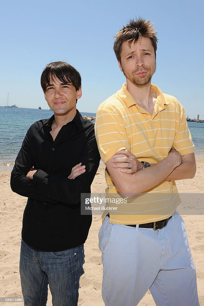 David Robert Mitchell and Brett Jacobsen attend the 'Myth of the American Sleepover' Photocall held at the American Pavillion during the 63rd Annual Cannes Film Festival on May 20, 2010 in Cannes, France.