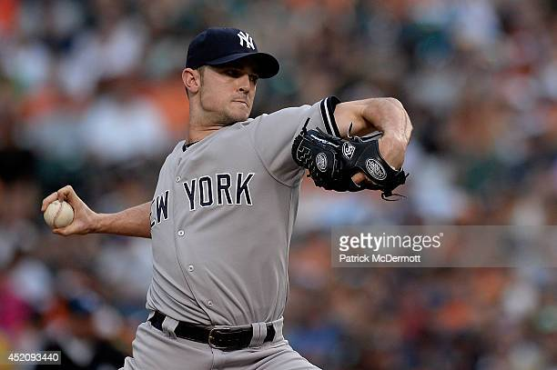 David Robertson of the New York Yankees throws a pitch in the ninth inning during a game against the Baltimore Orioles at Oriole Park at Camden Yards...